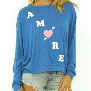 Wildfox Amore Heart BBJ Sweater Small NWT